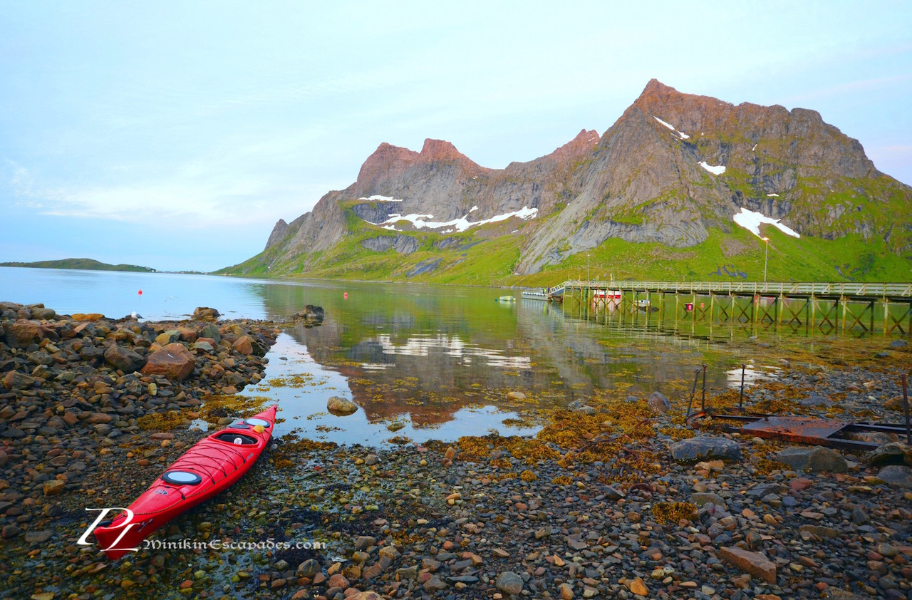 Kayaking the fjords of Reine
