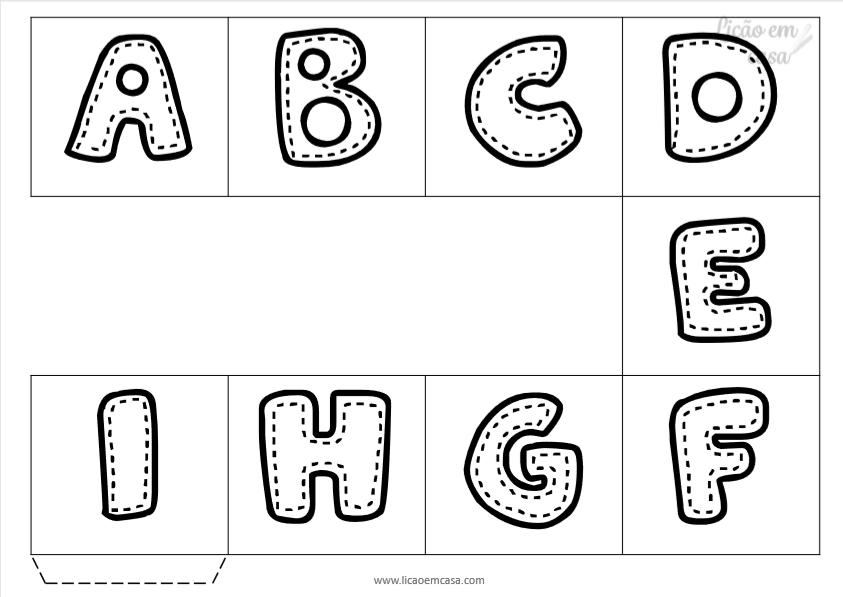 Jogo Trilha do Alfabeto