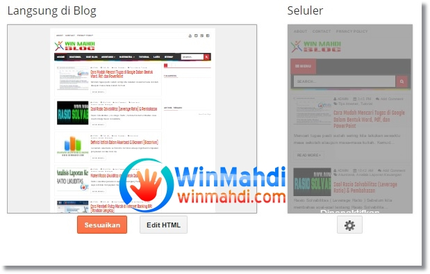 Blog web version di hp android