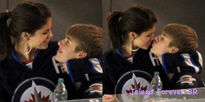 Justin Bieber e Selena Gomez apaixonadinhos em jogo de hockey no ...