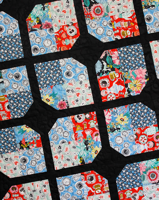 Wonderland Quilt made with Wonderland fabrics from Blend Fabrics