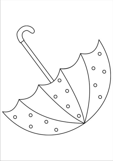 Tranh tô màu cái ô và những chấm bi