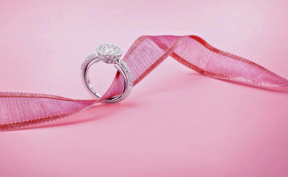 wedding-engagement-ring-jewelry-pink-ribbin