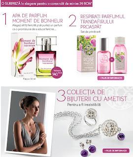 oferta yves rocher februarie 2013, parfum gratuit Moment de Bonheur