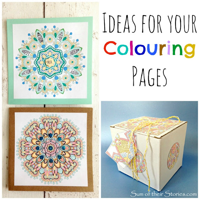 ideas to use completed colouring pages