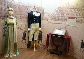 Regency costumes on display at the Jane Austen Centre in Bath