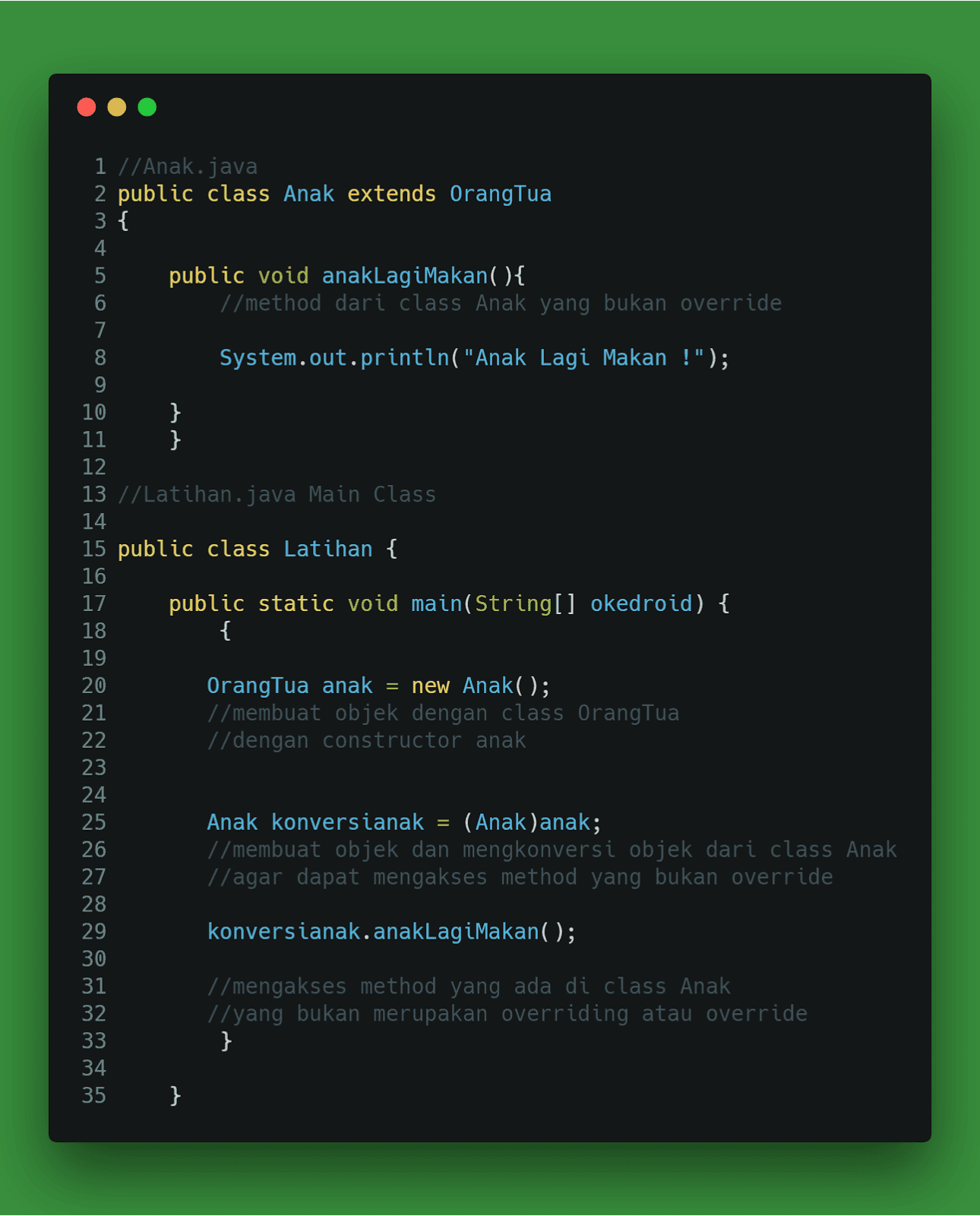 Contoh Program Polymorphism Java Netbeans : contoh, program, polymorphism, netbeans, Belajar, Polymorphism, Bahasa, Pemrograman, Okedroid, Coding, Android