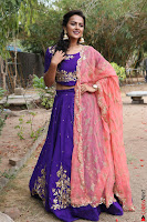 Actress Shraddha Srinath in Purple Chania Choli Cute Pics ~  Exclusive 55.jpg