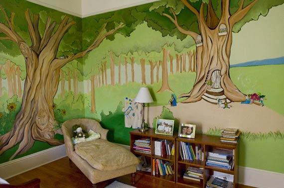 Interior Design Decorating Ideas 10 Kids Room Wall Paint