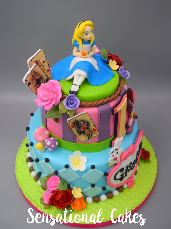 The Sensational Cakes alice wonderland 3D cake singapore alice in