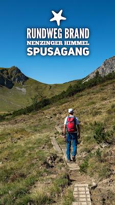 Rundweg Brand – Nenzinger Himmel – Spusagang | Wandern im Brandnertal Amatschonjoch – Hirschseele – Spusagang – Oberzalimalm | Wanderung Vorarlberg