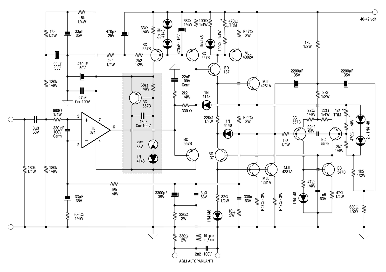 An Active Current Dump Amplifier Design Idea Diyaudio Circuit Tubeamplifier Audiocircuit Diagram Click The Image To Open In Full Size
