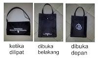 tas custom untuk promosi, souvenir, event perusahaan tas lipat custom