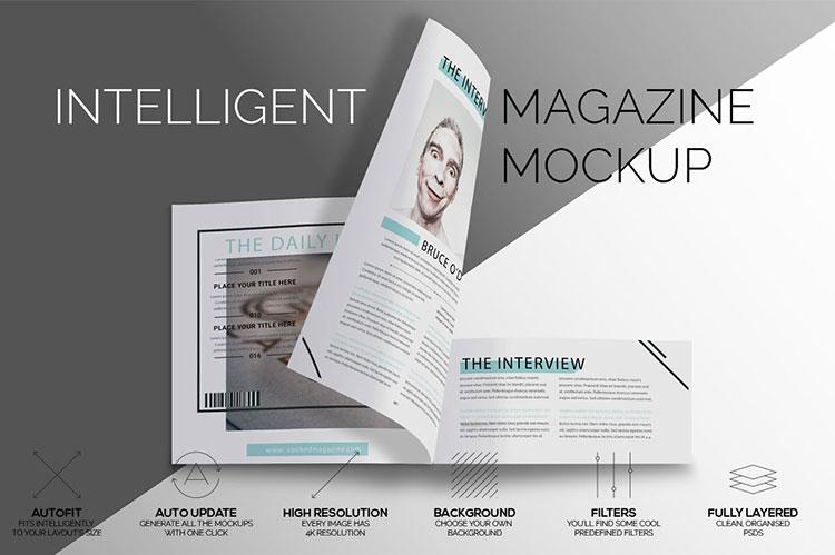 Intelligent Magazine Mockup Free