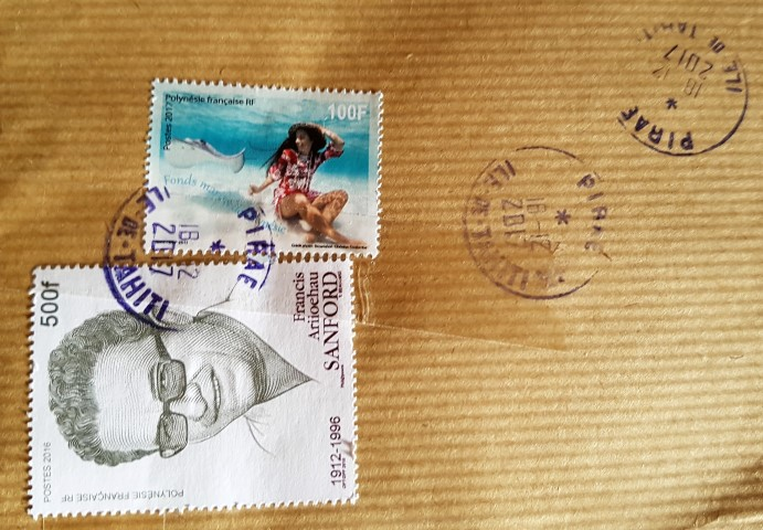 francobollo Polinesia Francese - Francis Ariioehau Sanford