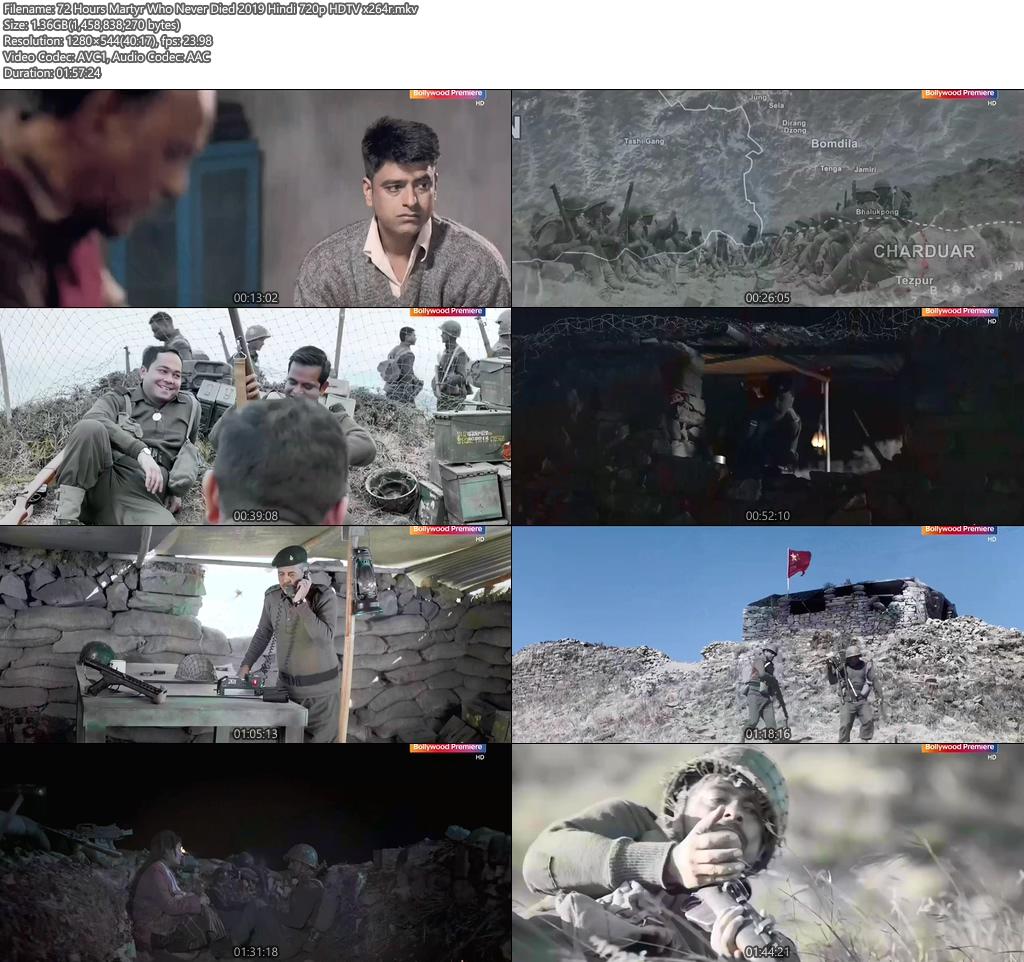 72 Hours Martyr Who Never Died 2019 Hindi 720p HDTV x264 | 480p 300MB | 100MB HEVC Screenshot