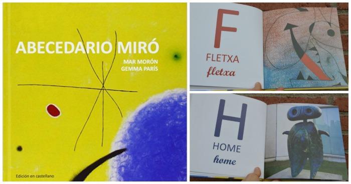 libro infantil abecedario miro, cuento sobre letras alfabeto y arte