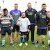 Integrantes de los All Blacks entrenaron a chicos con discapacidad en Buenos Aires