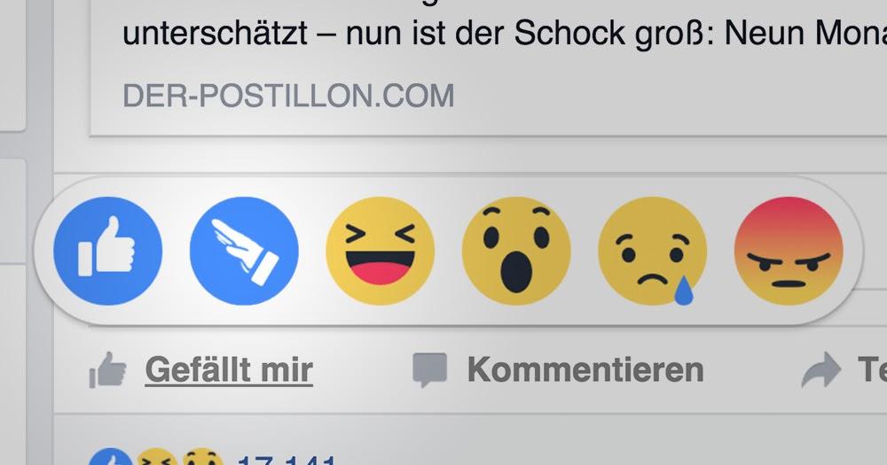 """Nur für Sachsen: Facebook präsentiert neue Reaktion """"Hitlergruß"""""""