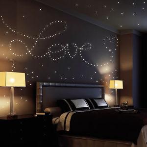 id e romantique coller des toiles phosphorescentes sur. Black Bedroom Furniture Sets. Home Design Ideas