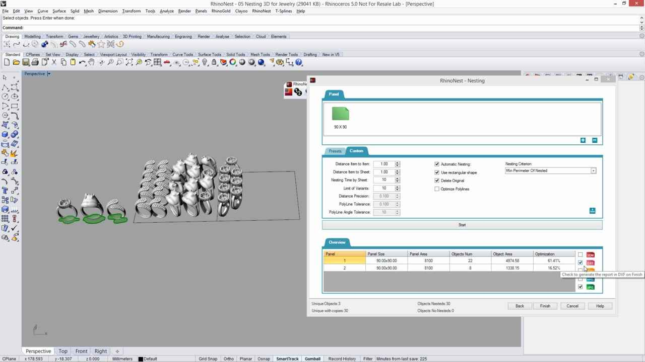 RhinoNest 4.1.3 Plugin For Rhinoceros Free Download
