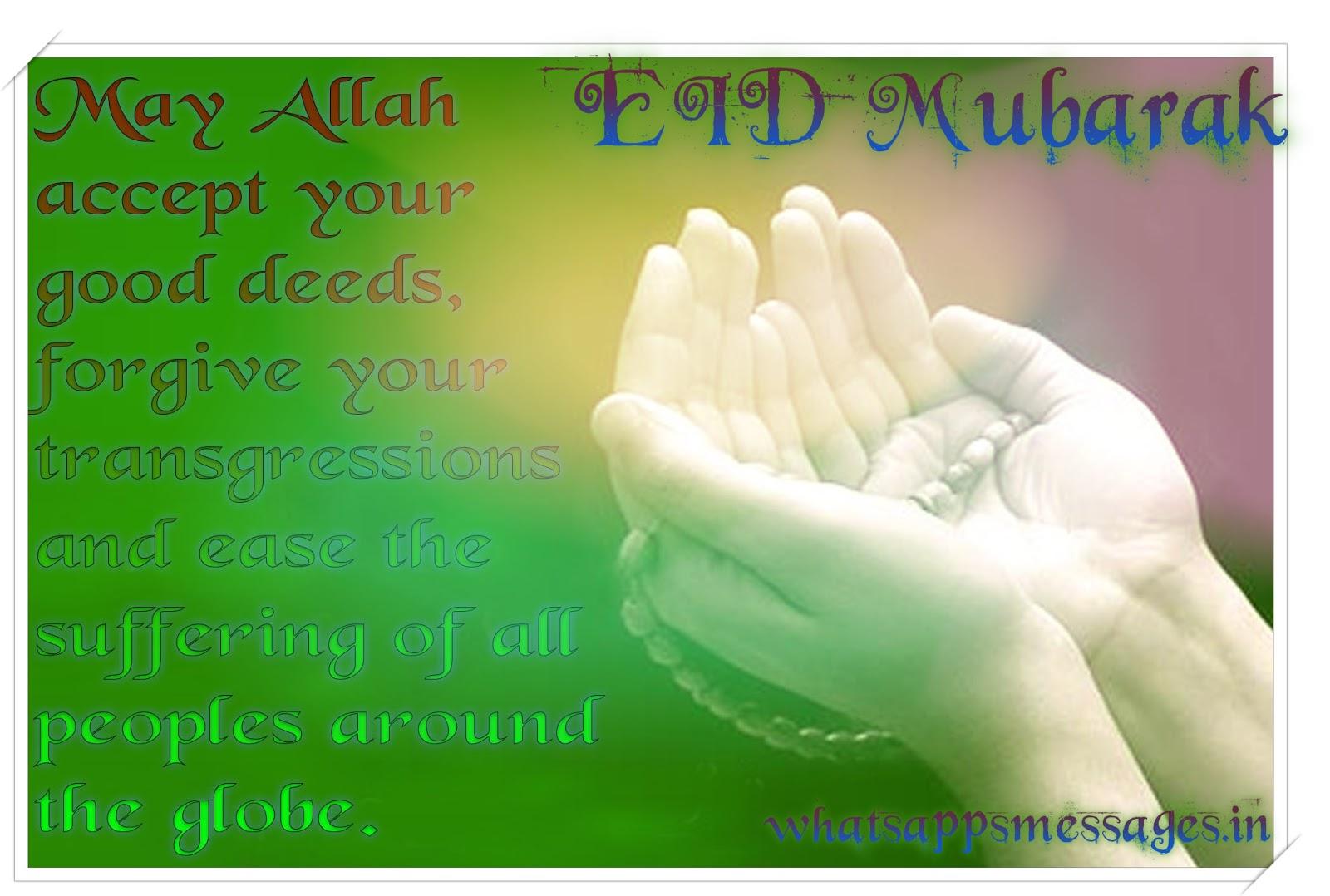Happy Eid Mubarak Smsmessageswishesshayari Whatsapp Messages