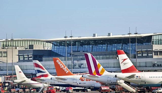 De avião de Munique até Hamburgo
