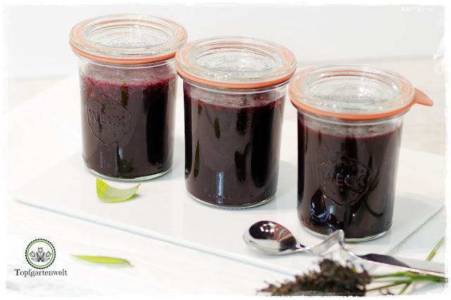 Heidelbeermarmelade mit Lavendel und Orangensaft - Foodblog Topfgartenwelt