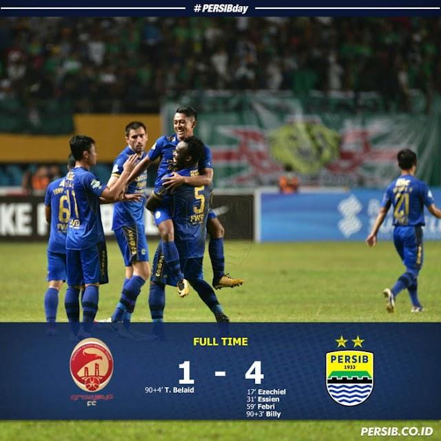 Kemenangan Manis di Jakabaring, Persib 4-1 Sriwijaya
