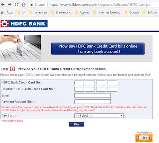 HDFC payment portal by billdesk - Techrajput