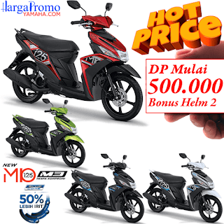 Harga Promo Kredit Motor Yamaha Mio M3 125 DP 500 Ribu + Bonus Helm 2