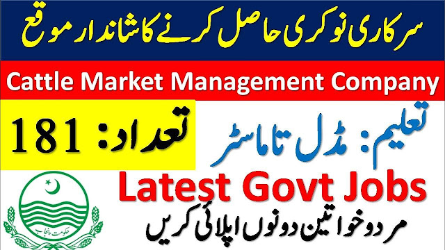 Cattle Market Management Company Jobs 2020 Latest Advertisement