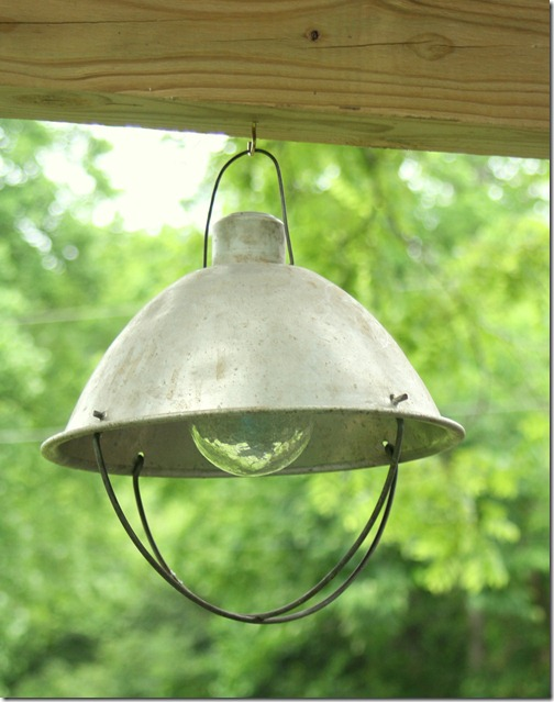 This outside light is great for a garden area.