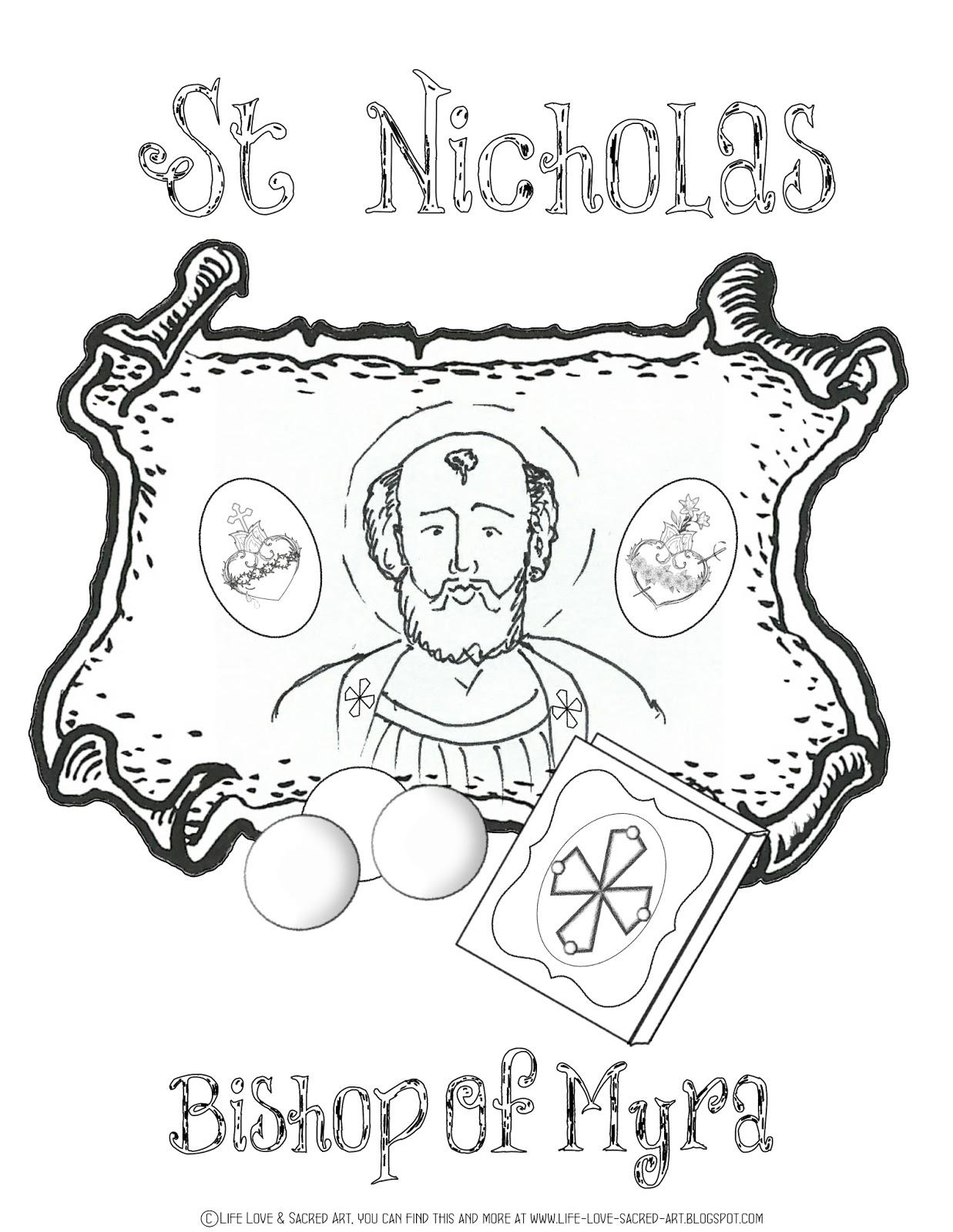 Life, Love, & Sacred Art: St. Nicholas Giveaway & FREE