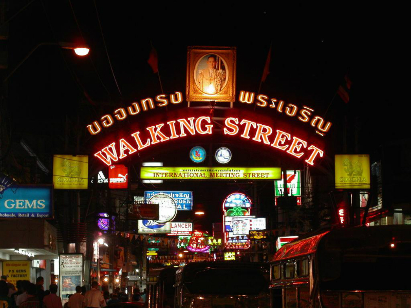 Famous Walking Street in Pattaya