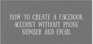 Create Facebook Account Without Mobile Number