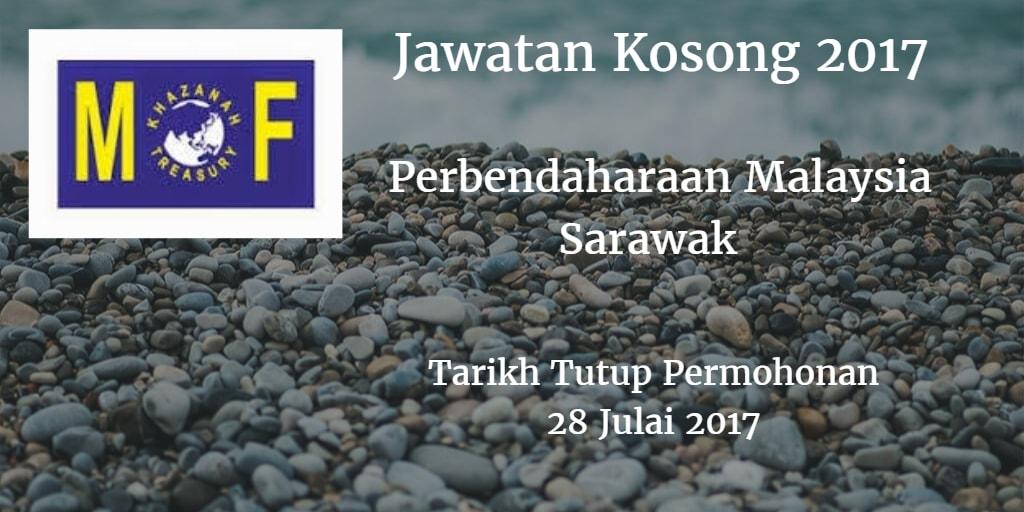 Jawatan Kosong Perbendaharaan Malaysia Sarawak  28 Julai 2017