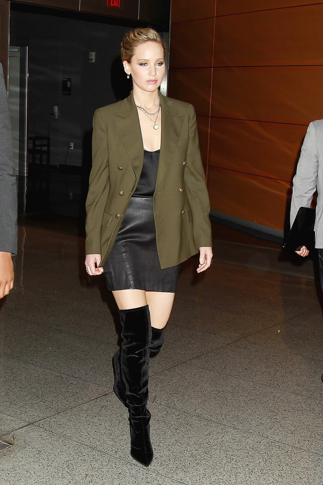 Lovely Ladies in Leather: Jennifer Lawrence in a leather ...