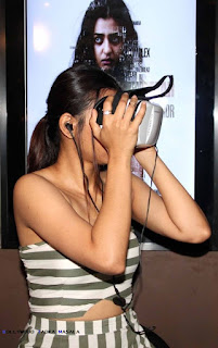 Radhika Apte in a strapless dress at launch of 360 degree virtual reality video movie Phobia