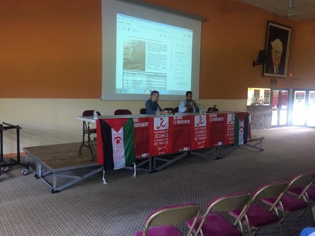 اتحاد الشبيبة الصحراوية يشارك في المخيم الصيفي بمدينة بلوفراغن الفرنسية