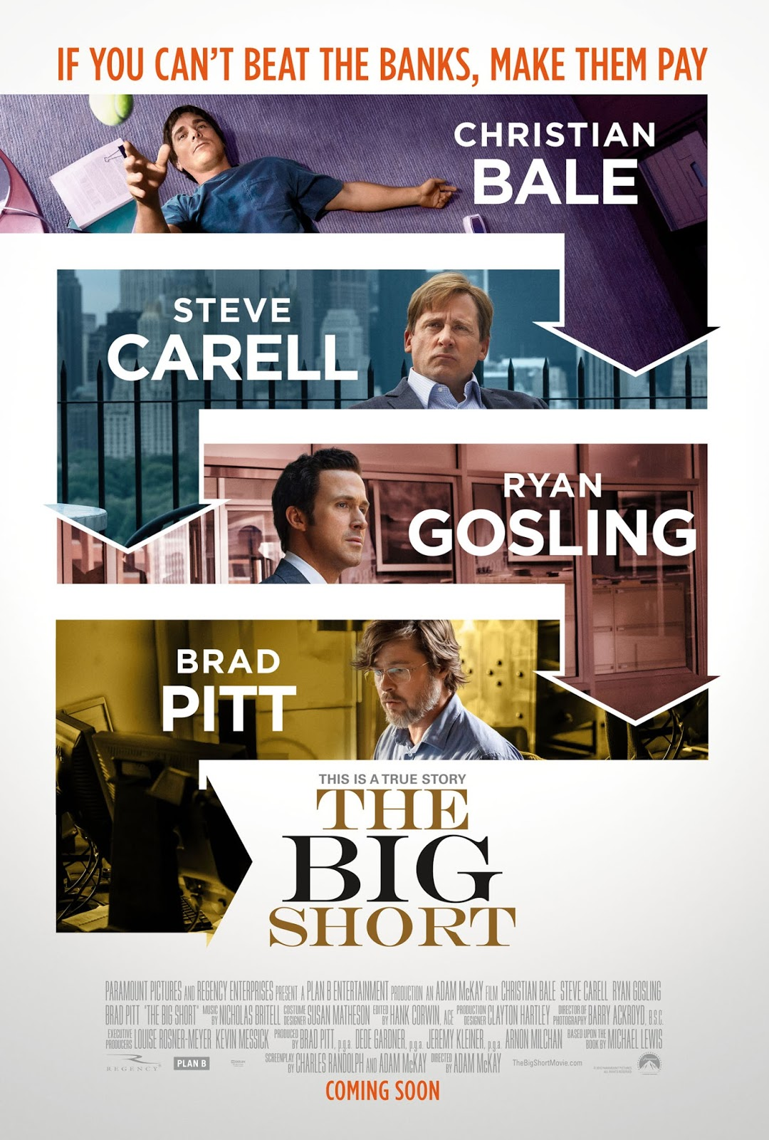 Image result for movie poster the big short