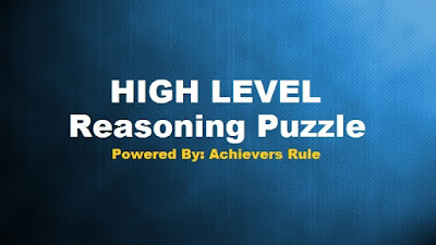 High Level Reasoning Puzzle for IBPS Exams