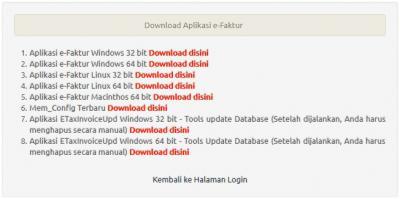 Unduh File Update eFaktur, etaxinvoice, e-faktur