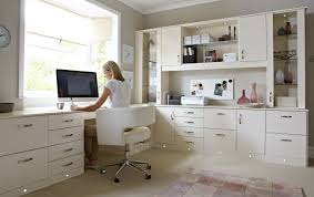 White Color Home Office Design ! Home Decor