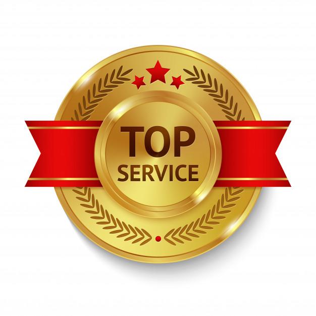Top Service Badge Ribbon Free Vector