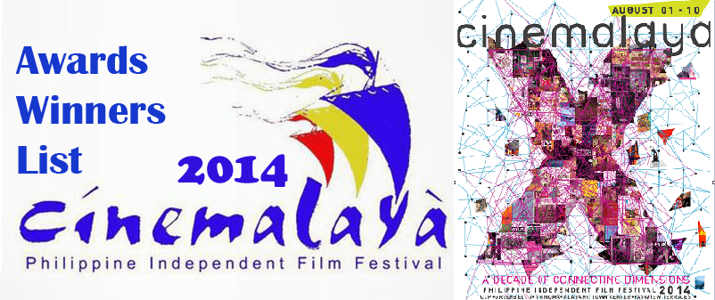 Cinemalaya Film Festival 2014 Awards Winners List