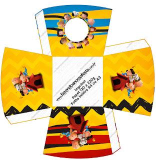Charlie Brown y Snoopy: Cajas para Imprimir Gratis.
