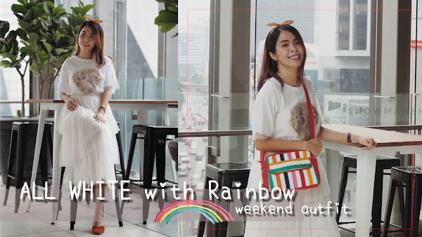 [Bangkok Fashion] ALL WHITE with Rainbow Weekend Outfit #96