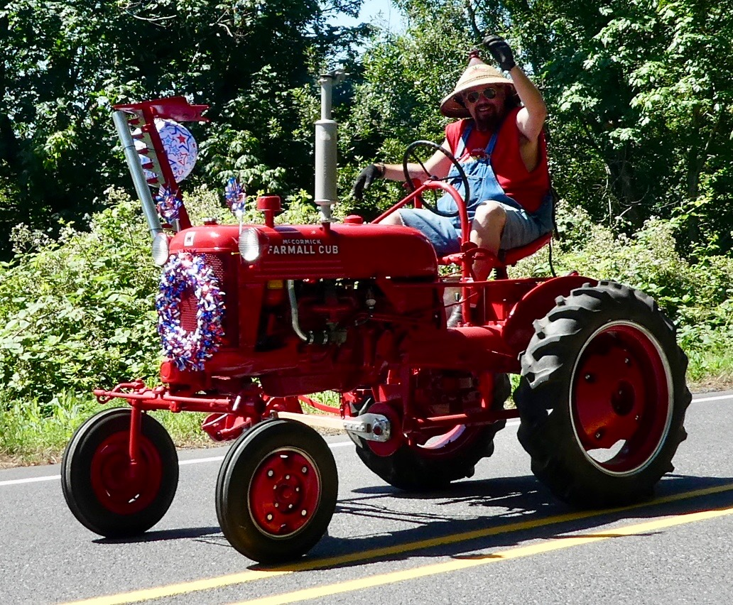 Teresa Kasner Independence Day Parade Farmall Cub Wiring Harness Routing How About This Colorful Farmer On His Tractor