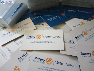 Business Cards (Back to Back) for Rotary Club Metro Aurora